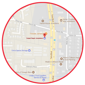 Carpet Depot Jonesboro Map Round