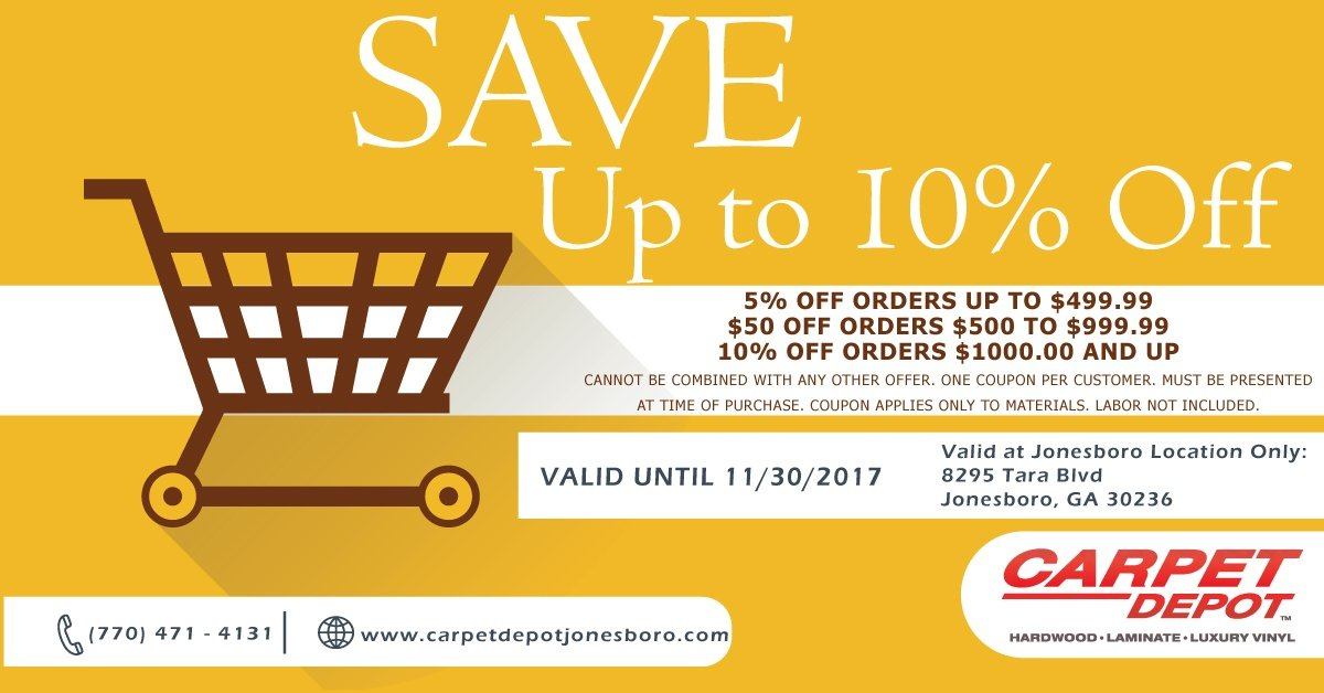 November Coupon Carpet Depot