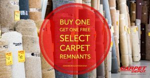 Carpet Remnant BOGO Sale
