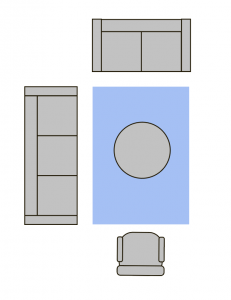 Living Room Area Rug Layout