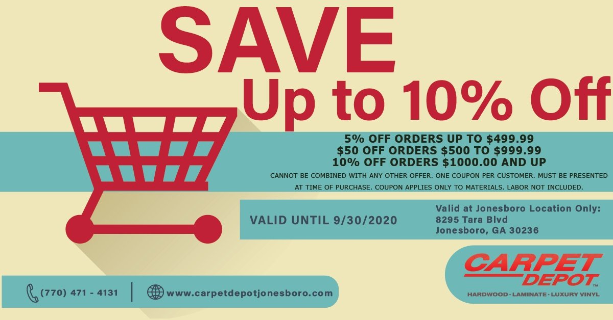 September 2020 Flooring Coupon Jonesboro